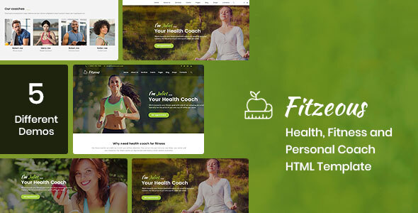Fitzeous - Health, Fitness, Personal Coach HTML Template by DesignArc