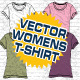 Womens T-Shirt Vector Mock-Ups - Template - GraphicRiver Item for Sale