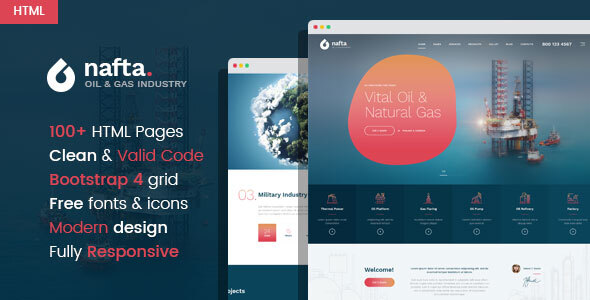 Nafta - Oil & Gas Industry HTML Template by WPRollers