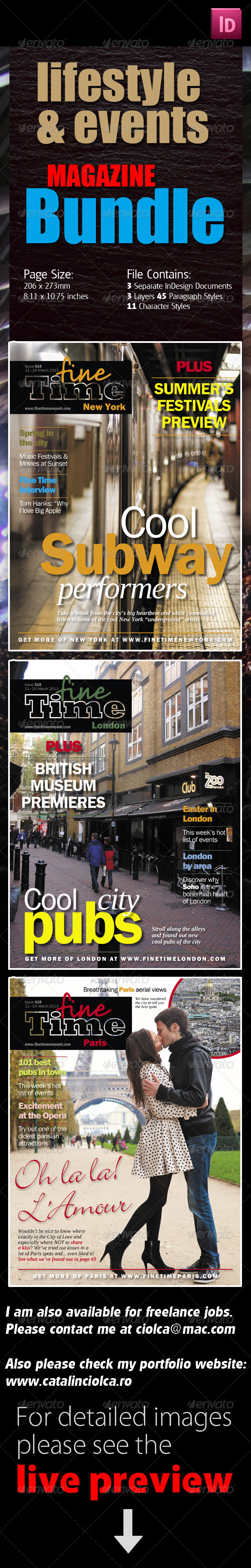 Events Magazine Bundle - Magazines Print Templates