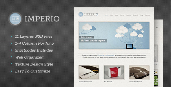Free Download 1418 Imperio   Modern PSD Template Nulled Latest Version