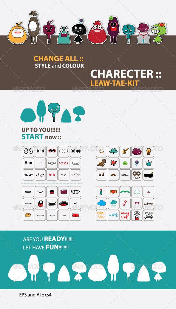 CHARACTER :: LEAW-TAE-KID - Characters Vectors
