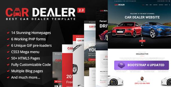 Car Dealer – Automotive Responsive HTML5 Template