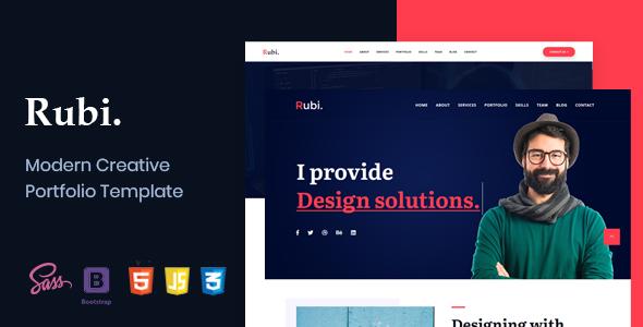 Rubi - Creative Portfolio Template by DreamBuzz