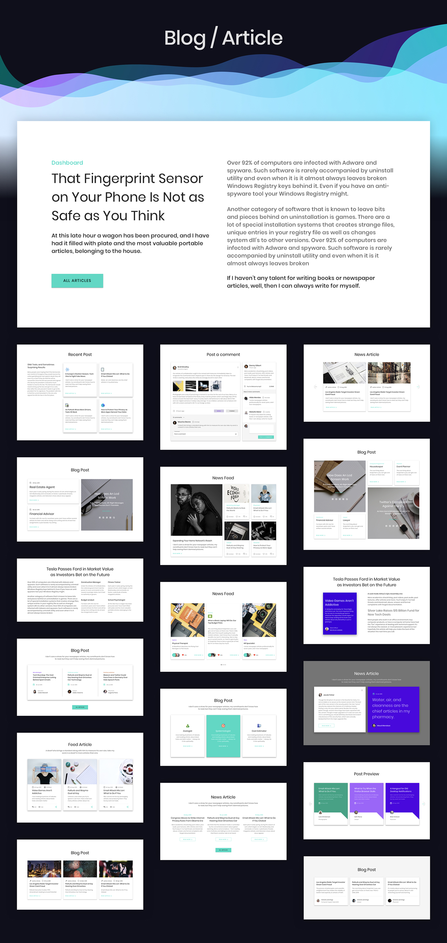 Ataman UI Kit - Templates For Website