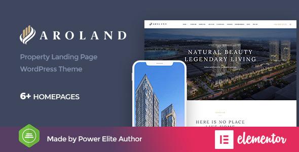 Aroland - Single Property Landing Page WordPress Theme