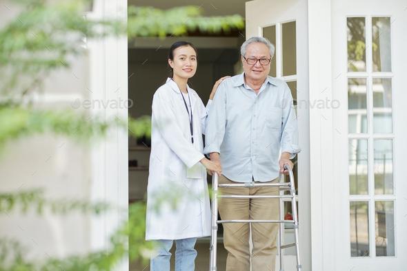 Man at nursing home - Stock Photo - Images