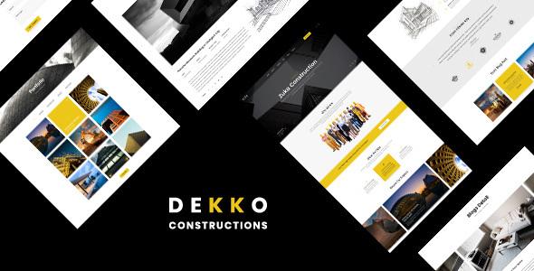 Dekko - Construction HTML5 Template by htmlbeans