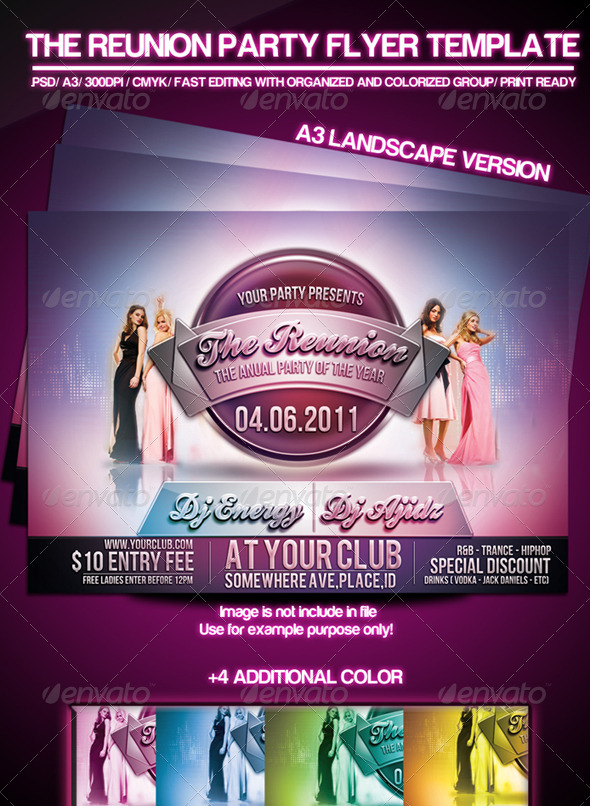 The Reunion Party Flyer Template - Clubs & Parties Events