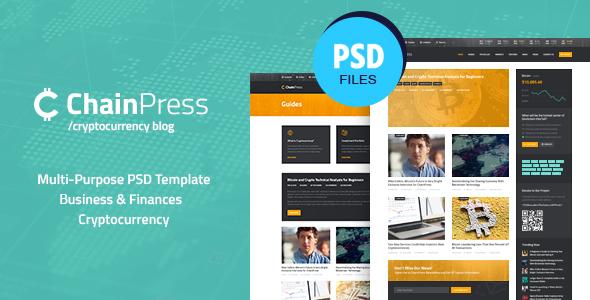 ChainPress   Financial Business Blog PSD Template