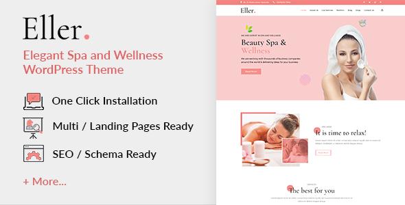 Exceptional Eller -  Elegant Spa & Wellness  WordPress Theme