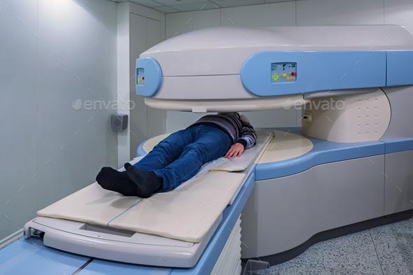Modern MRI Scanner at hospital - Stock Photo - Images