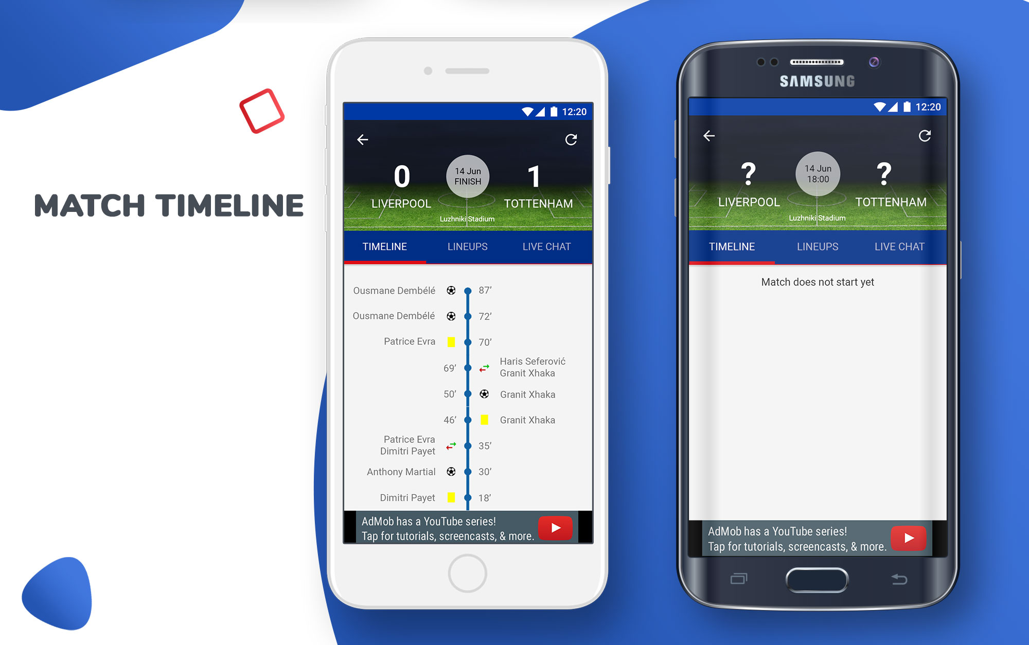 Livescore football app template - iOS