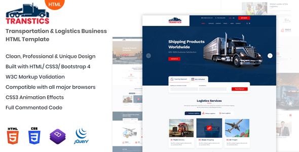 Transtics - Responsive HTML Template by andIT_themes