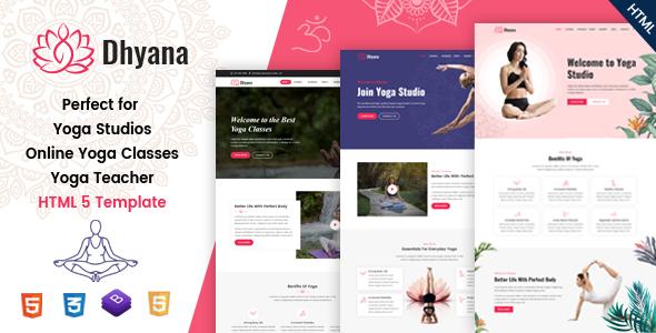 Dhyana - Yoga Studio & Meditation HTML Template
