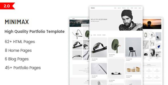 Minimax - Minimal Portfolio HTML Template by HasTech