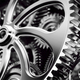 Mechanism, gears and cogs at work. Industrial machinery - PhotoDune Item for Sale