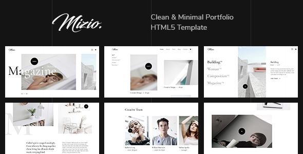 Excellent Mizio - Clean & Minimal Portfolio HTML5 Template