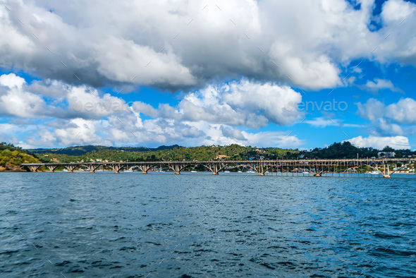 View of Samana bay and bridge, Dominican Republic - Stock Photo - Images