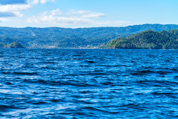 View of Samana bay in Dominican Republic - Stock Photo - Images