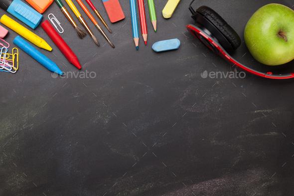School education supplies concept - Stock Photo - Images