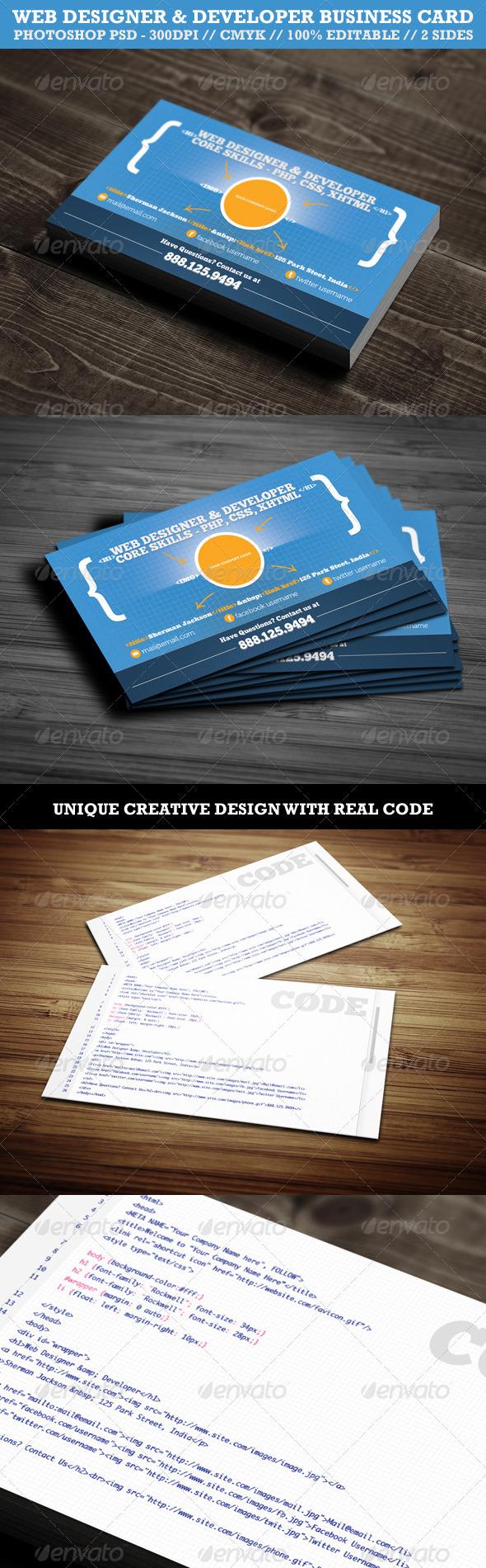 Creative web designerdeveloper business card by shermanjackson creative web designerdeveloper business card creative business cards magicingreecefo Choice Image