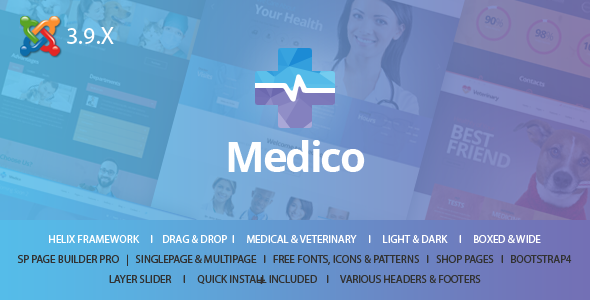 Medico - Medical & Veterinary Joomla Template With Page Builder