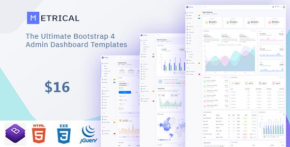Metrical – Multipurpose Bootstrap4 Admin Dashboard Template