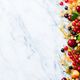 Fresh Berries on a Marble Background. Copy Space. Top View. - PhotoDune Item for Sale