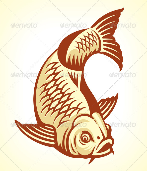 Carp Fish Cartoon - Animals Characters