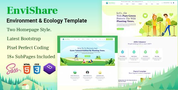 Environmental Bootstrap 4 Templates | Bootstrap4