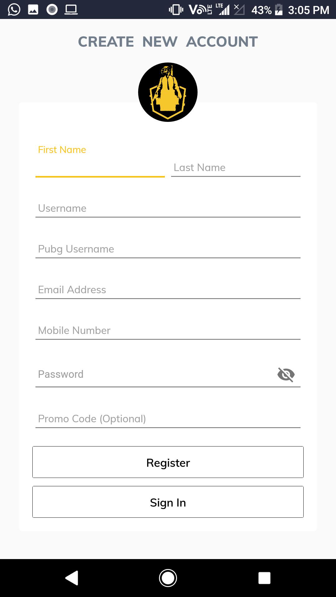PUBG Tournament App with Admin Panel - BattleWorld