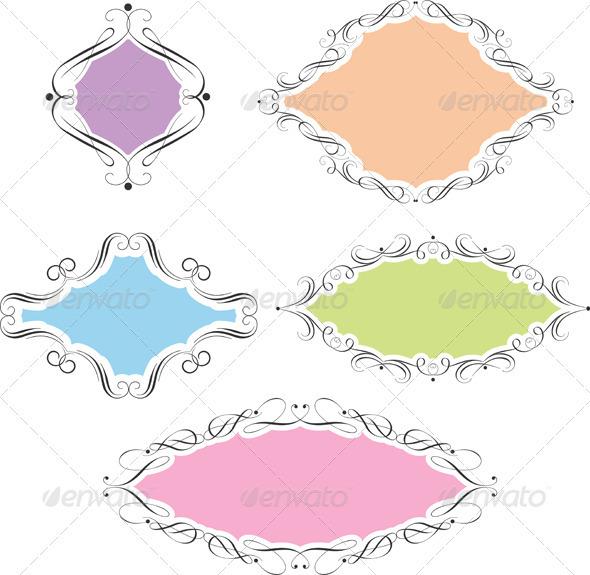Decorative frames - Backgrounds Decorative