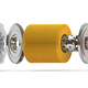 Car oil filter isolated on white. Exploded view. - PhotoDune Item for Sale