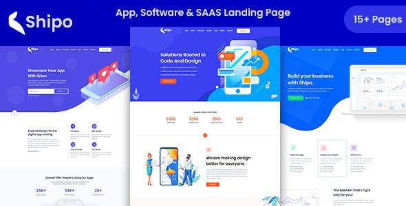 Shipo - App, Software & SAAS Landing Template