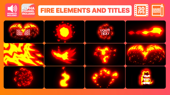 Flame Elements And Titles | Premiere Pro Motion Graphics Template