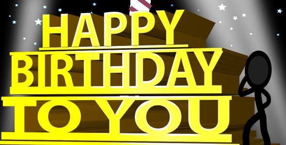 Happy Birthday Ecard Inkman By Steve314 Videohive