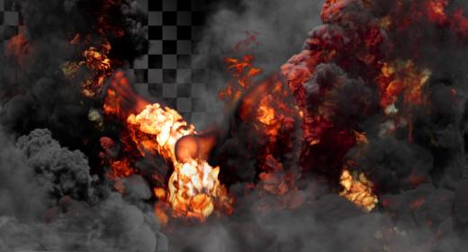 Explosion Smoke Fire