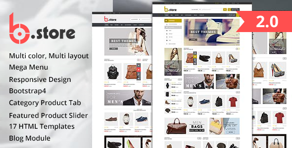 Excellent Fashion Store HTML Template - BStore