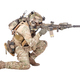 Soldier shooting from knee isolated studio shoot - PhotoDune Item for Sale