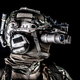 Soldier in night view goggles low key studio shoot - PhotoDune Item for Sale