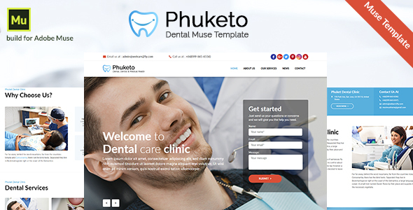 Phuketo - Dental Muse Template
