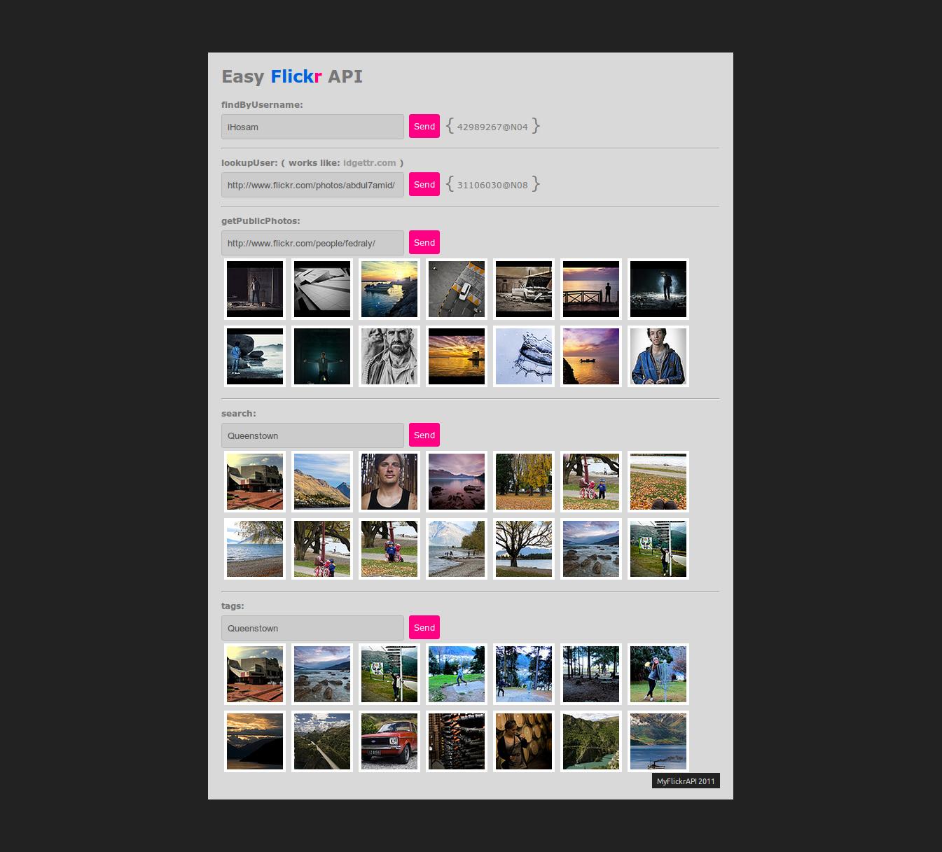 Easy Flickr API