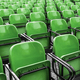 Empty plastic green chairs - PhotoDune Item for Sale