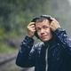 Traveler in heavy rain - PhotoDune Item for Sale