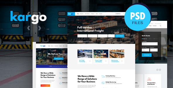 Kargo   Logistics & Transportation PSD Template