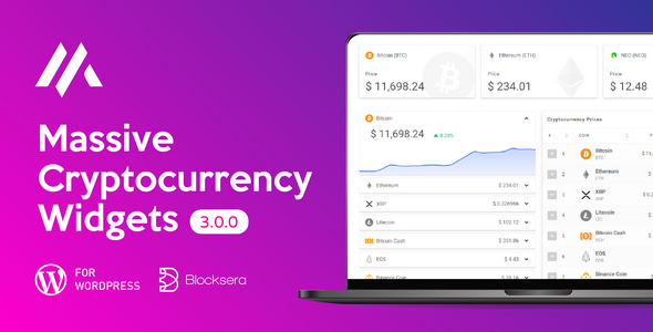 Massive Cryptocurrency Widgets | Crypto Plugin