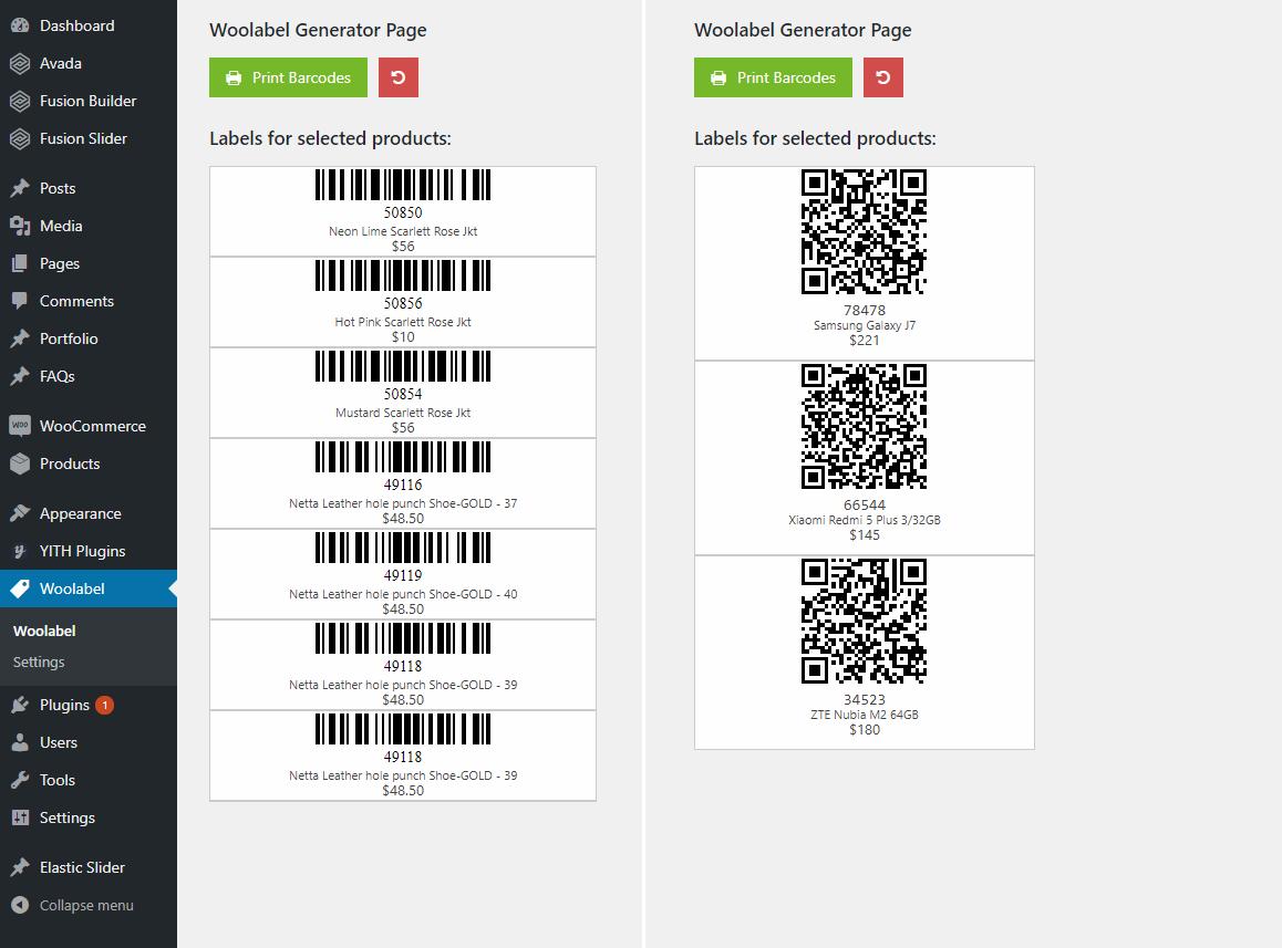 QR & Barcode Generator Label Printing - Woolabel