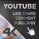 Youtube Subscribe Rainbow Glass Button - VideoHive Item for Sale