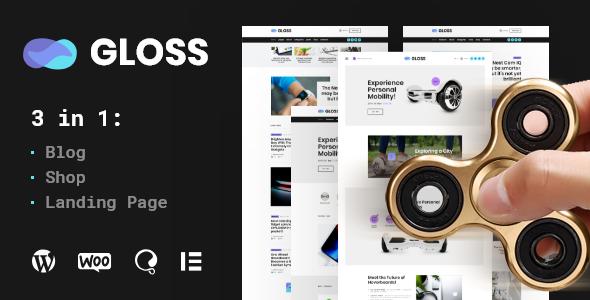 Gloss | Viral News Magazine WordPress Blog Theme + Shop